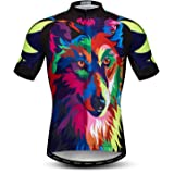 Mens Cycling Jersey Bike Shirt Moutain Short Sleeved Pro Team Breathable Quick-Dry Skull Tops