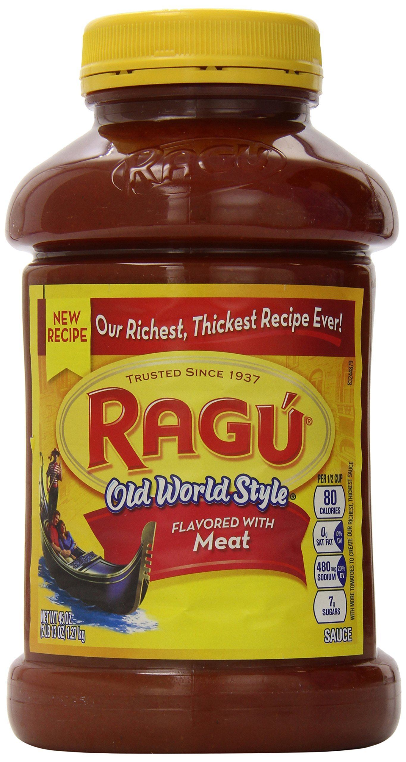 Ragu Pasta Sauce, Old World Style, Meat 45 Ounce, 45-Ounce Jars (Pack of 4) by Ragu