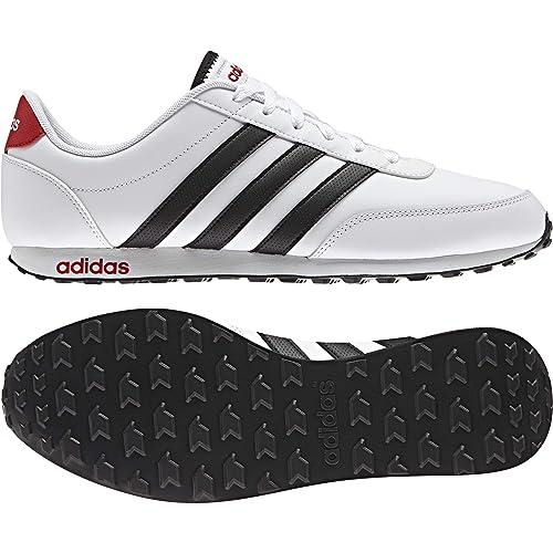 Adidas V Racer, Zapatillas para hombre, Blanco (Ftwbla/Negbas/Escarl), 46 2/3 EU: Amazon.es: Zapatos y complementos