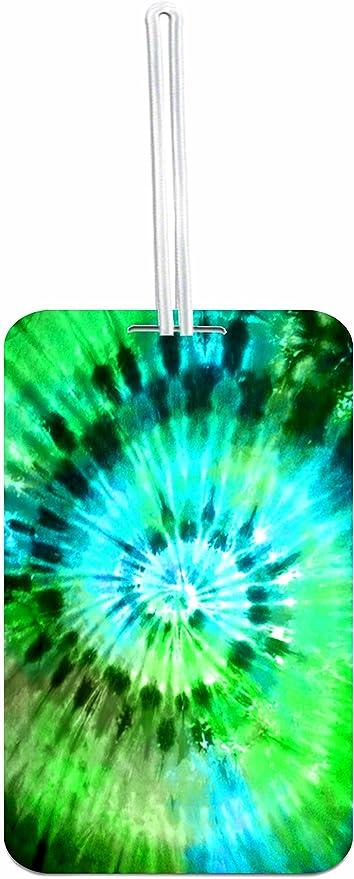 Free-2 Tie Dye Pattern Luggage Tag 3D Print Leather Travel Bag ID Card