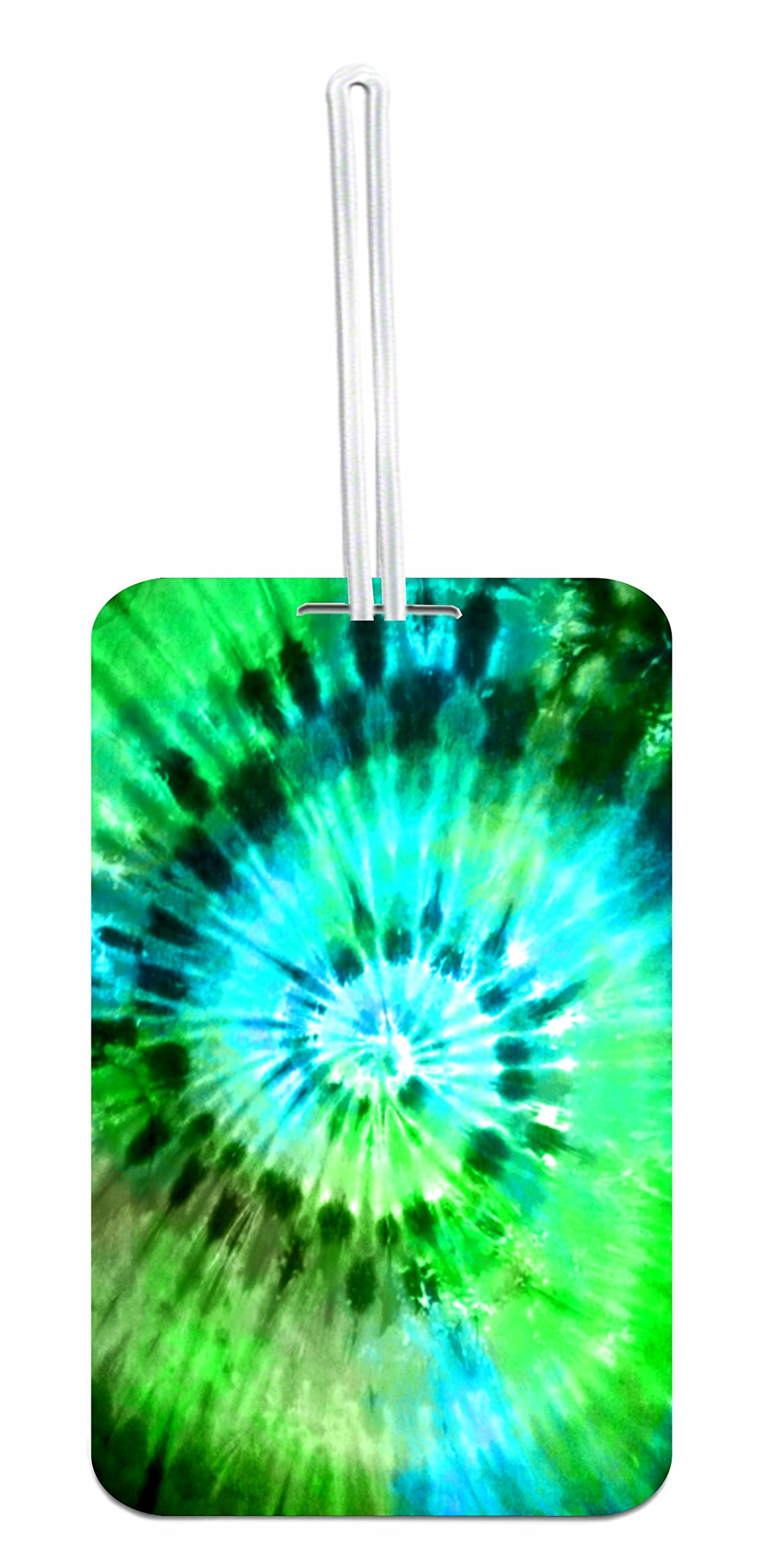 Green/Blue Tie Dye School Bag/Backpack ID Tag with Custom Back by Jacks Outlet (Image #1)