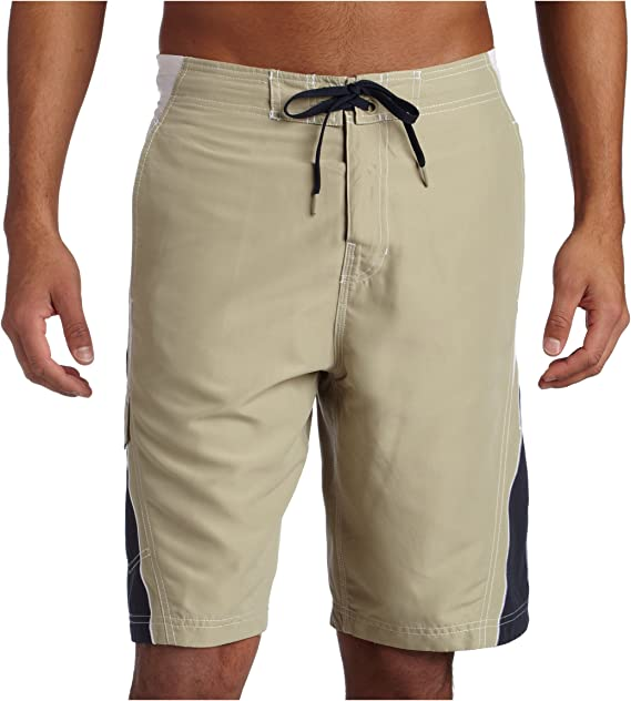 LianXiYou Men Casual Elastic Waist Plain Simple Leisure Boardshort