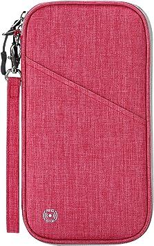 Inverted Girl Travel Passport /& Document Organizer Zipper Case