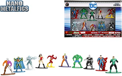 Marvel Avengers Jada Nano metalfigs 10 Pack Collector/'s Set 6 Exclusive figues NEUF