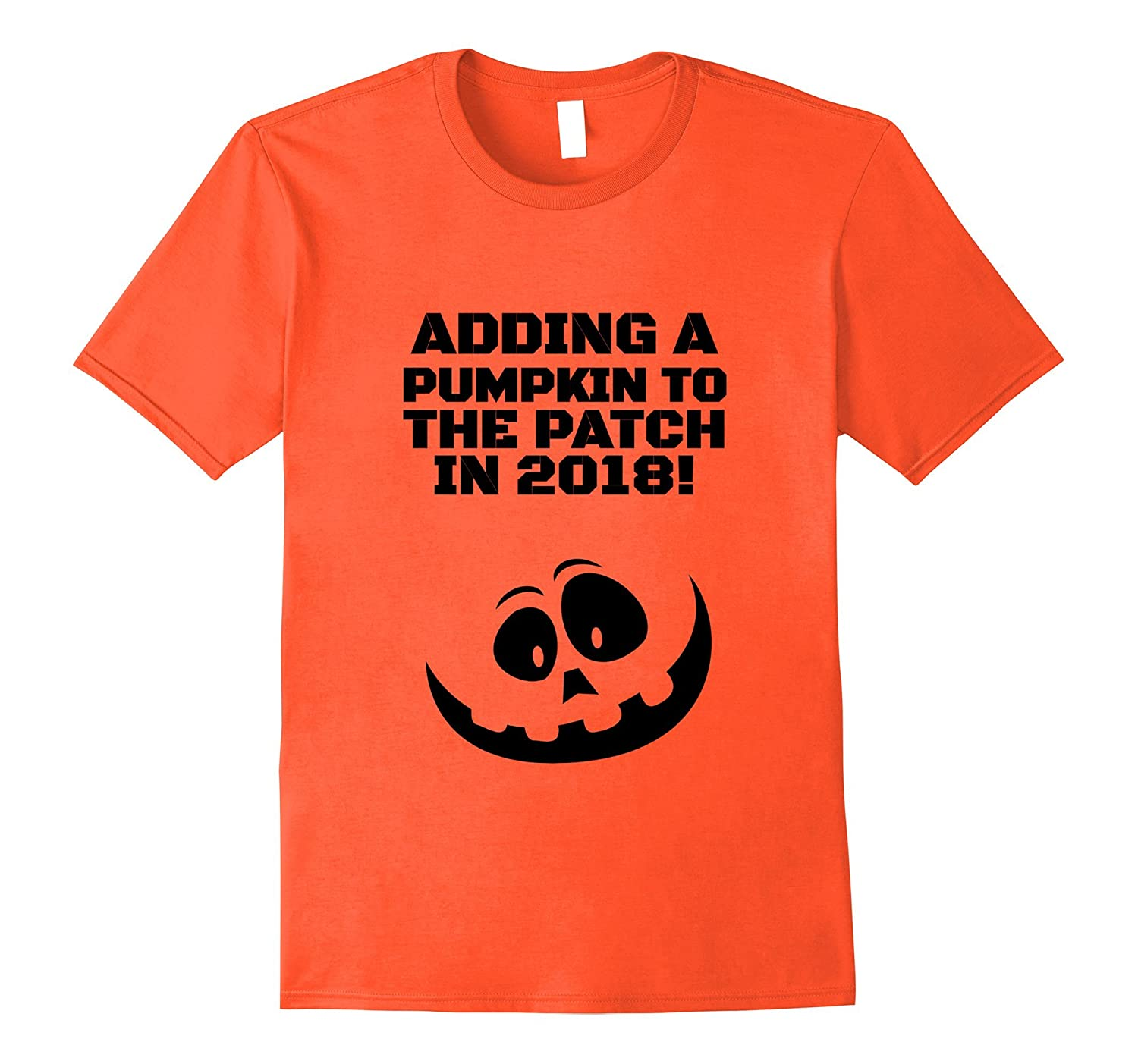 Halloween 2017 Pregnancy Announcement Pumpkin Shirt-FL