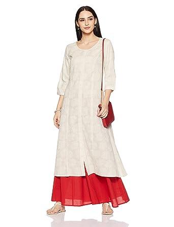 5f8c792f972 Rangmanch By Pantaloons Women s Straight Kurta (110039874009 Off-White X-Large)