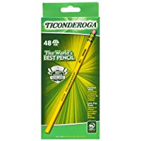 Deals on 48-Pk Ticonderoga Pencils Wood-Cased Unsharpened Graphite 2 HB Soft