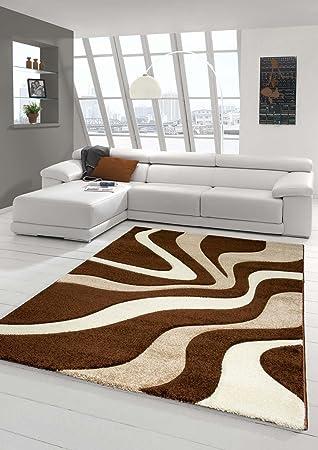Salon Designer Tapis contemporain Tapis moquette Wave de ...