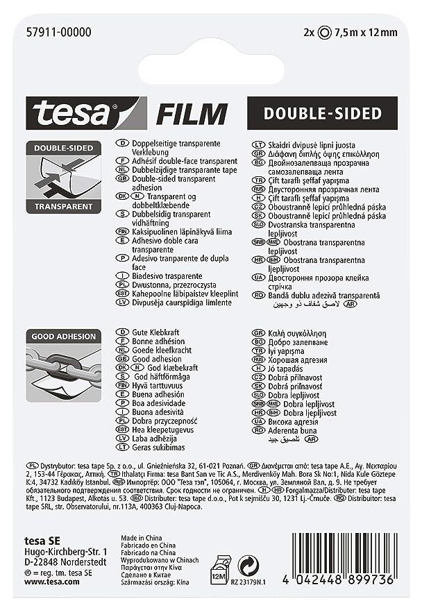 Amazon.com: Tesa 57911 – 00000 – 00 Tesafilm cinta adhesiva ...