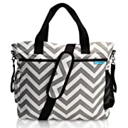 Baby K'tan - Original Diaper Bag Tote with Changing Pad, Wet Dry Bag, 14 pockets, Stroller Straps and Machine Washable - Chevron Canvas