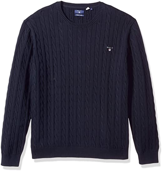 top-rated cheap affordable price bright n colour Gant Men's Cotton Cable Jumper