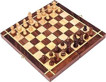 storeindya Hecho a Mano de Madera Decorativo Viaje Juegos de Mesa Juegos de Navidad Regalo de Acción de Gracias (Tablero de ajedrez): Amazon.es: Juguetes y juegos