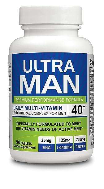 Ultra Man - Multi-Vitamins 90 tablets - Premium Performance Formula 100% Natural -
