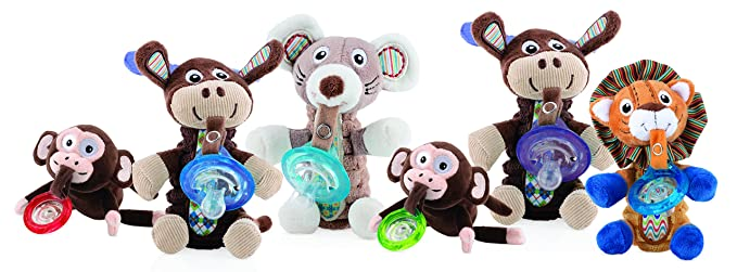 Nuby Natural Flex - Peluche con chupete: Amazon.es: Bebé