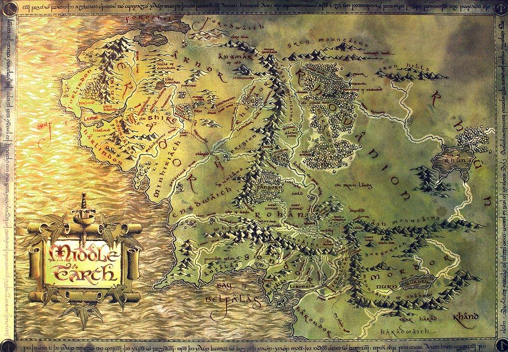 Herr Der Ringe Karte