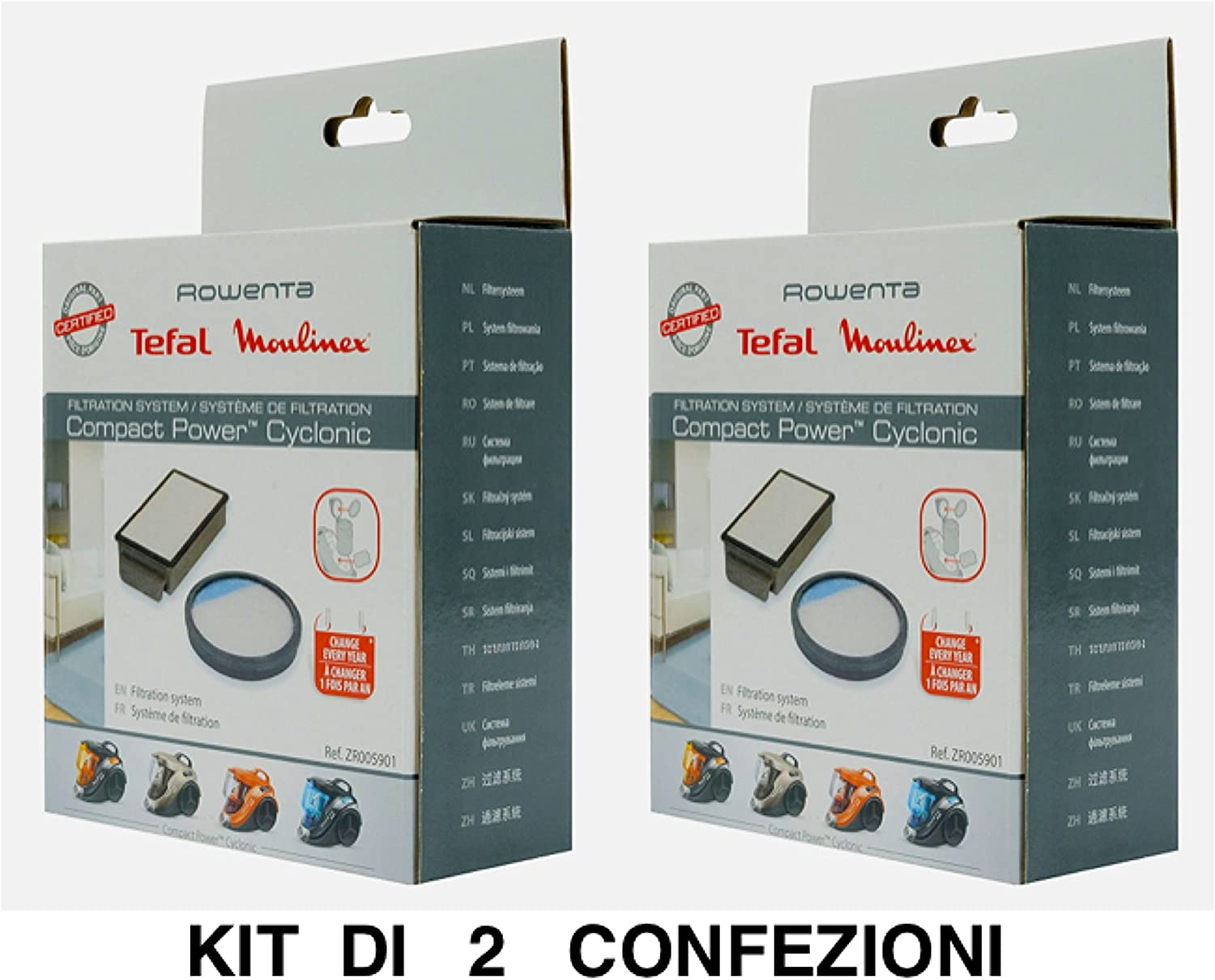 2 x Filtros Rowenta Compact Power Cyclonic zr005901: Amazon.es: Hogar