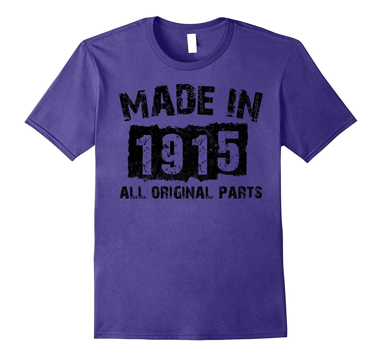 102nd Birthday 102 Years Old 1915 T-Shirt-Vaci