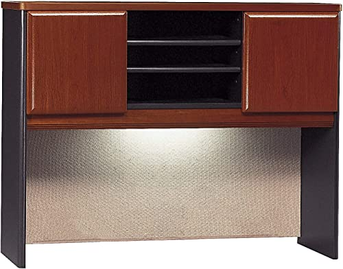 Bush Business Furniture Series A Collection 48W Hutch in Hansen Cherry Galaxy