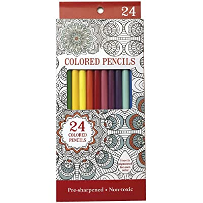 Leisure Arts Colored Pencils, Pack of 24: Toys & Games