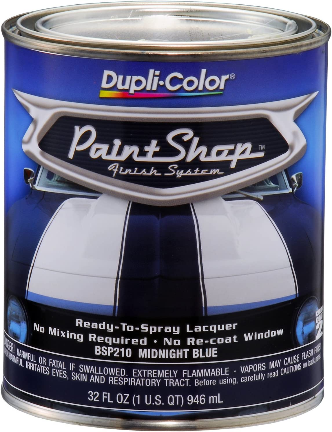 Dupli Color Bsp210 2 Pk Paint Shop Midnight Blue Finish System Base Coat 1 Quart Case Of 2