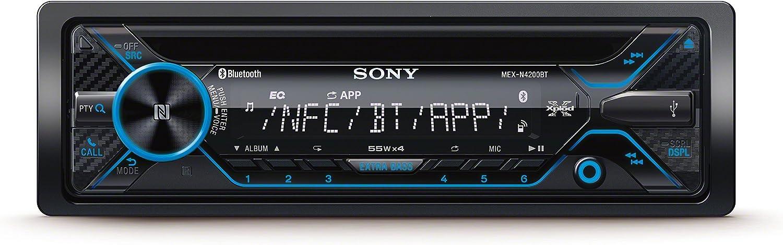 Sony MEXN4200BT - Radio CD (USB, Bluetooth, NFC y Control de Voz Compatible iPhone y Android) Negro