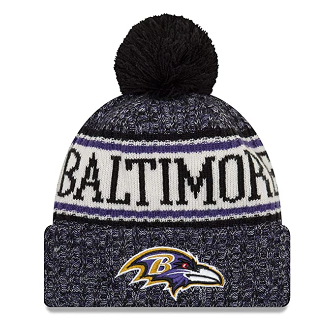 da3133d530bf5 A NEW ERA Era Knitted Onfield Sport Beanie ~ Baltimore Ravens  Amazon.es   Ropa y accesorios