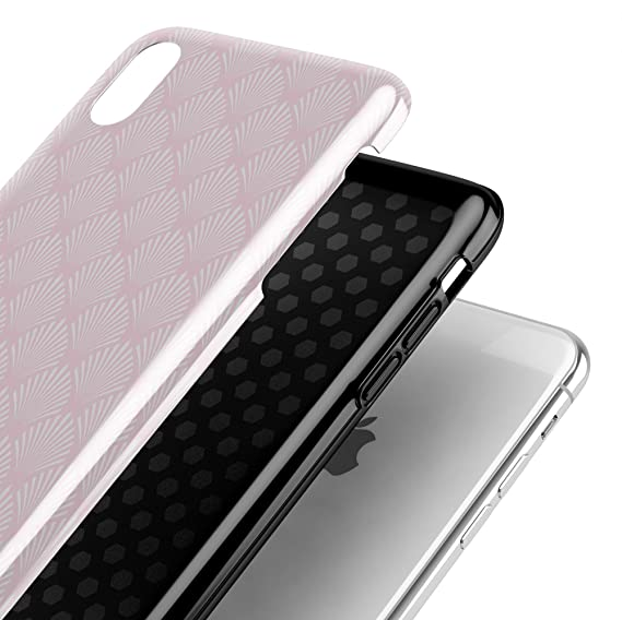 Amazon.com: Baby Pink Shell Pattern iPhone X Swappable Tough ...