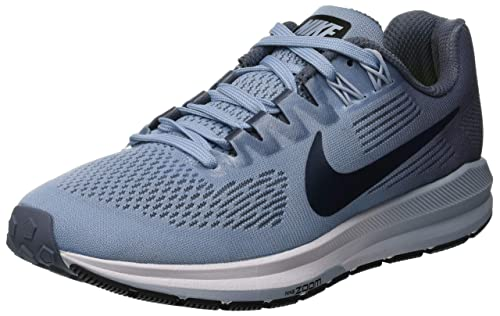 buy online 2f6a3 b4371 Nike Women s Air Zoom Structure 21 Running Shoe (5 M US, Armory Blue