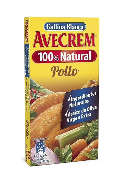 Gallina Blanca Avecrem 100% Natural Caldo de Pollo - Pack de 10 x 9 g