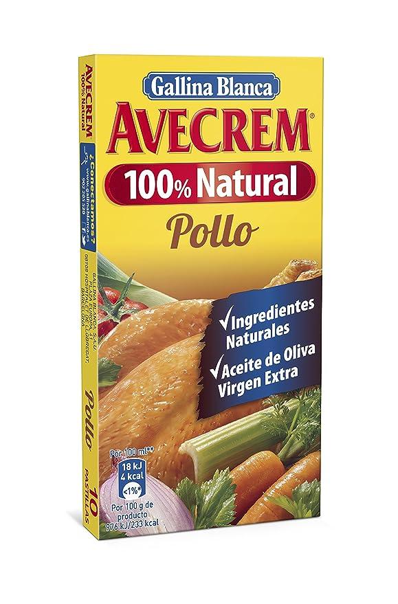 Gallina Blanca Avecrem 100% Natural Caldo de Pollo - Pack de 10 x 9 g - Total: 90 g: Amazon.es: Amazon Pantry