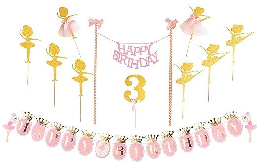 Decoración para tarta de tercer cumpleaños | Suministros ...