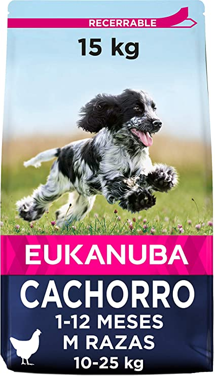 Oferta amazon: Eukanuba Cachorro Raza mediana Pollo