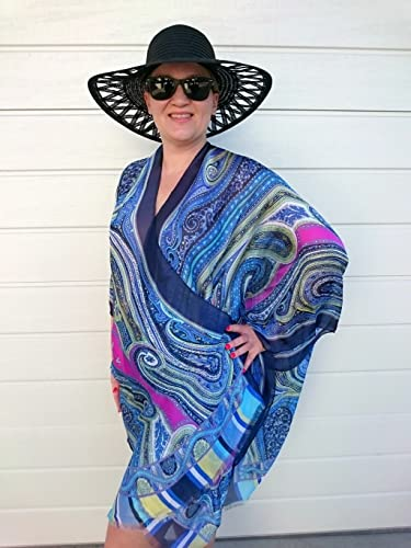 Amazon.com  Blue Kimono Robe 0cac46286