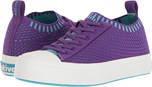 Native Little Kids Jefferson 2.0 LiteKnit Sneakers Starfish Purple Shell White 9