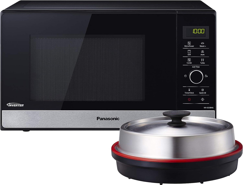 Panasonic NN-GD38HSGTG Encimera - Microondas (Encimera, Microondas combinado, 23 L, 1800 W, Giratorio, Tocar, Negro)