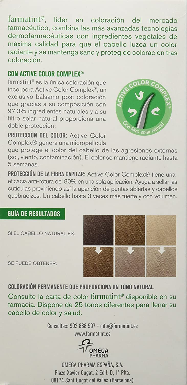Farmatint Gel 8C Rubio Claro Ceniza | Color natural y duradero | Componentes vegetales y aceites naturales | Sin amoníaco | Sin parabenos | ...