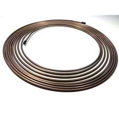"25 Ft. Roll/Coil of 3/16"" (.028"" Wall) Copper Nickel Brake Line Tubing: Automotive"
