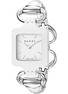 684886f235a Gucci 1921 White Leather Bangle and Case Women s Watch(Model YA130404)