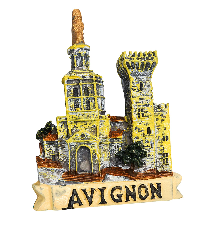 Avignon France zamonji 3D Magnet Frigo Autocollant en Aimant de R/éfrig/érateur B/âtiment de Renomm/ée Mondiale