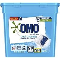 Omo Laundry Liquid Dual Capsules Front & Top Loader Sensitive 30 Pack (Packaging May Vary)