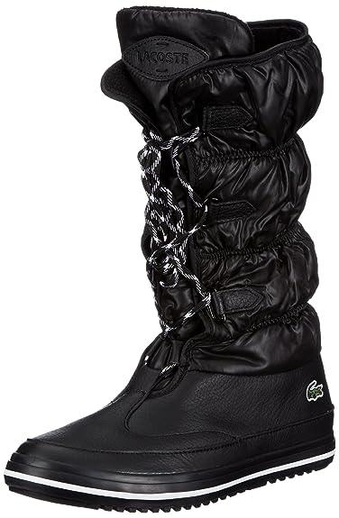 f6cc8ddb6143bf Lacoste Womens Tuilerie PS blk wht Snow Boots Black Schwarz (BLK WHT ...