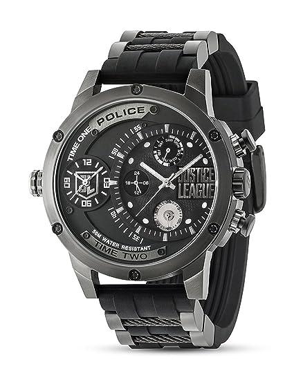 Police Edición limitada del distribuidor de reloj de Justice League edición 14536EDG: Amazon.es: Relojes