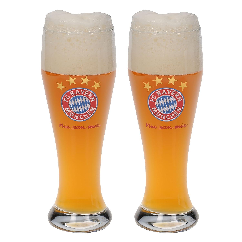 FC Bayern Mü nchen Bicchieri in vetro bianco bicchiere da birra Pils In Vetro mezzi fanglas Mass Brocca Boccale di birra, Maß krug Maßkrug FcB