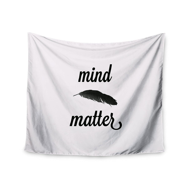 68 X 80 Kess InHouse Skye Zambrana Mind Over Matter II Black White Wall Tapestry