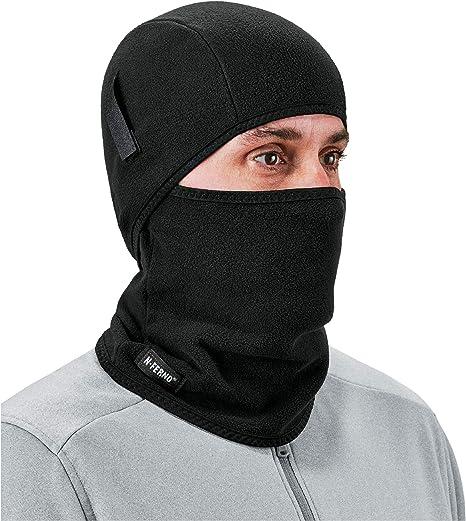 N-Ferno 6826 Pasamontañas de lana polar de 2 piezas color negro