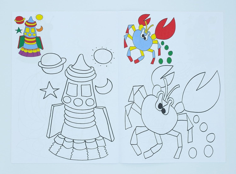 Libros infantiles para colorear marca Edicards. Surtido de 6 libros ...