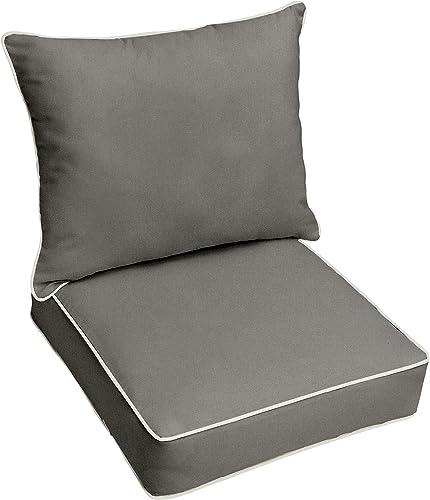 Mozaic AZPC6604 Indoor or Outdoor Sunbrella Deep Seating Cushion Pillow Set