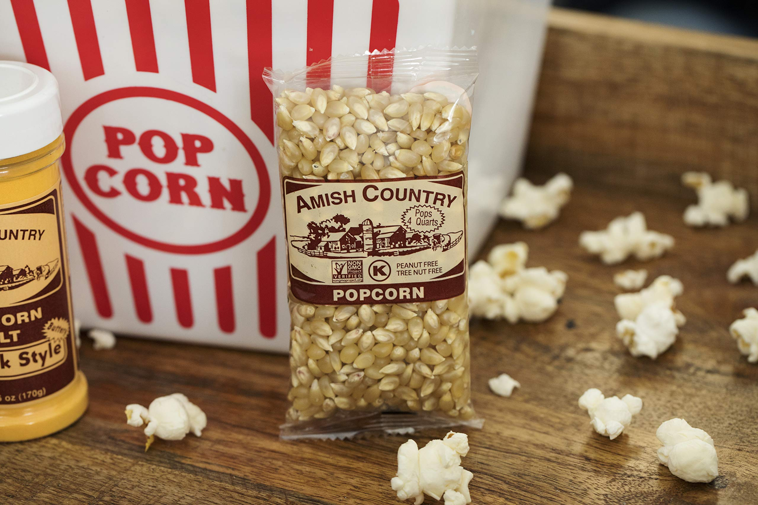 Amish Country Popcorn - Medium White Popcorn (4 Ounce - 24 Pack) Bags - Old Fashioned, Non GMO, and Gluten Free - with Recipe Guide by Amish Country Popcorn (Image #4)