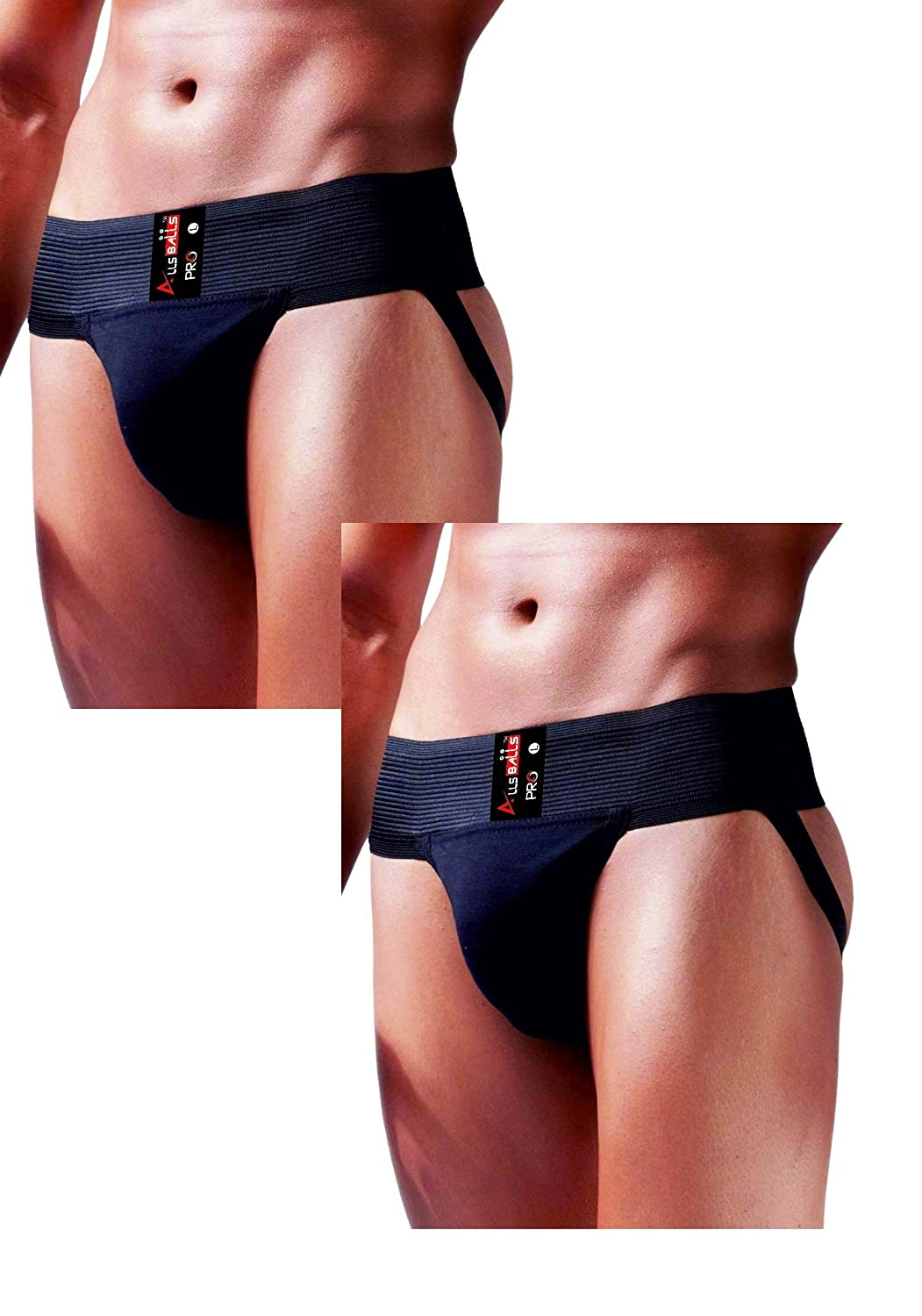 AllsBalls Jockstrap Gym Cotton Supporter with Cup Pocket Gym Fitness /& Outdoor Inner Wear Soft Underpants