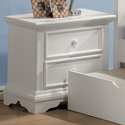 Pebble Beach Matte White Nightstand by Coaster Furniture